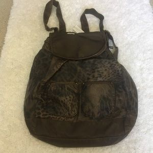 Charming Charlie Cinched Pocket Backpack